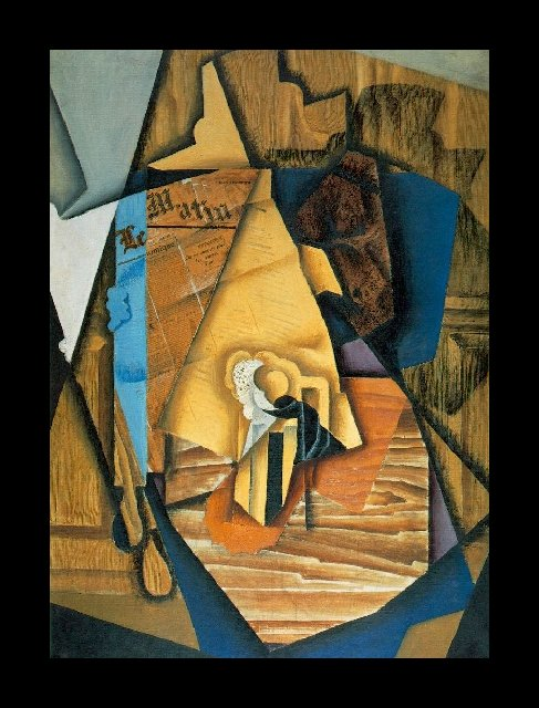 The Man at the Café by Juan Gris