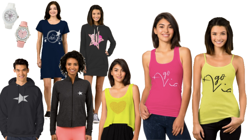 Clothing and accessories to feel good and look good while lounging, shopping, out ot eat and at a concert.