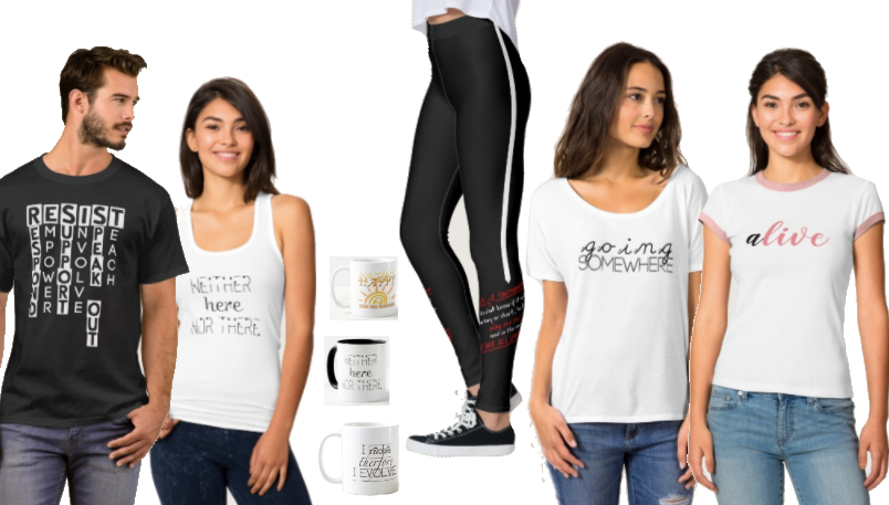 Statement tees, statement leggings and bags, plus other items that stand out and speak out.