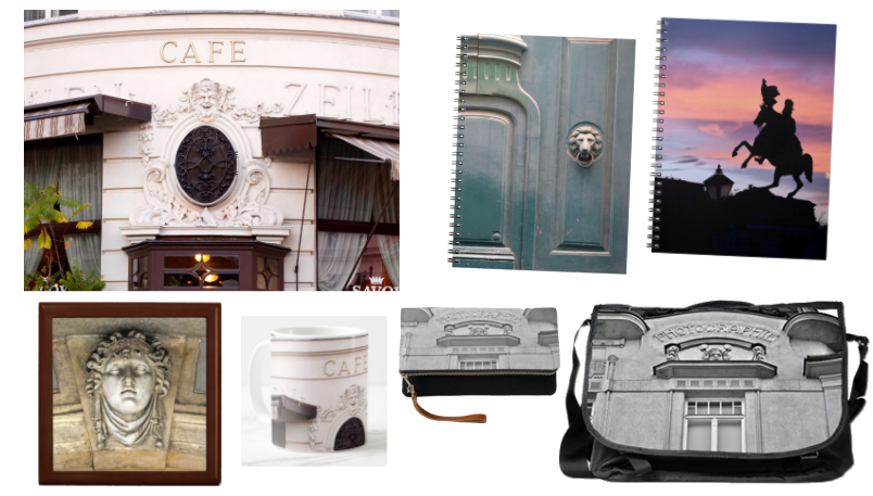 Featuring photography of Vienna on prints, accessories and other fine merchandise.
