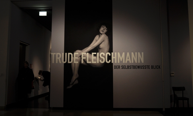 Entrance to exhibition on Trude Fleischmann in Wien Museum