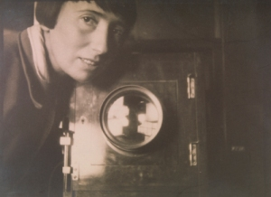 Trude Fleischmann self portrait with camera