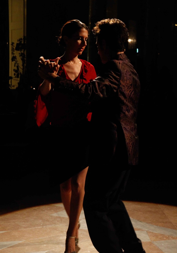 Tango dancing at the Palais Hofburg in Vienna