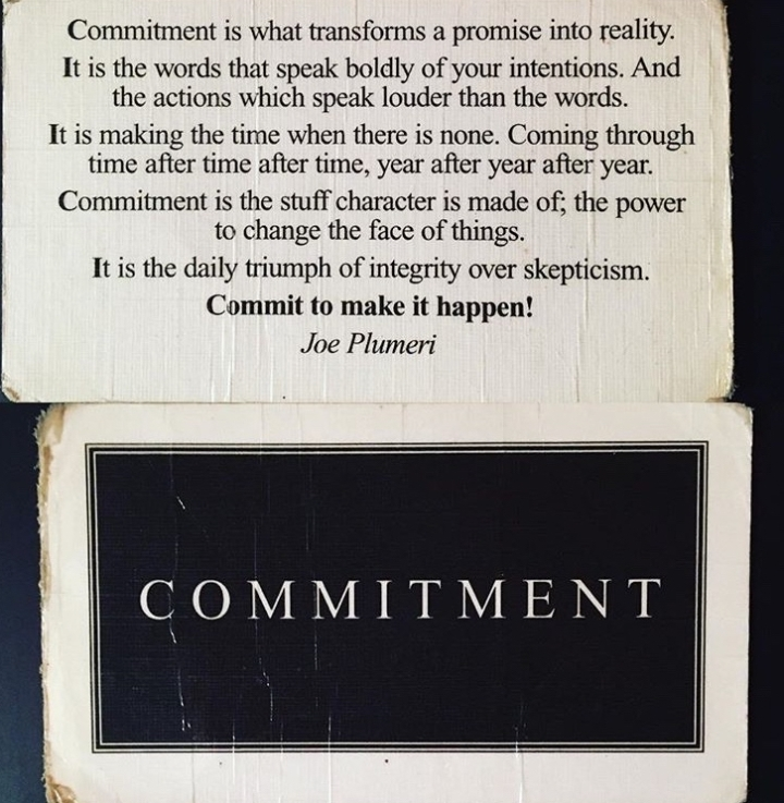 Quote on commitment