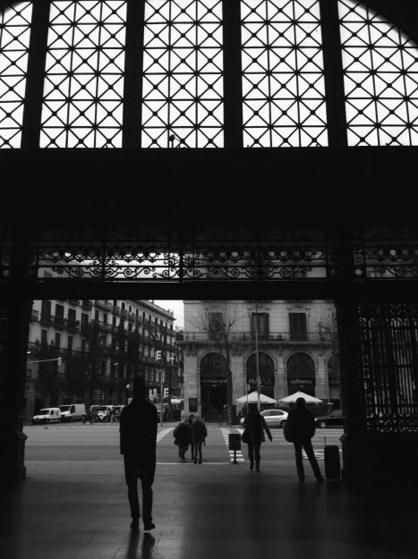 Architeture and musician in Barcelona