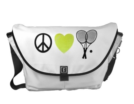 Peace Love Tennis Messenger Bag