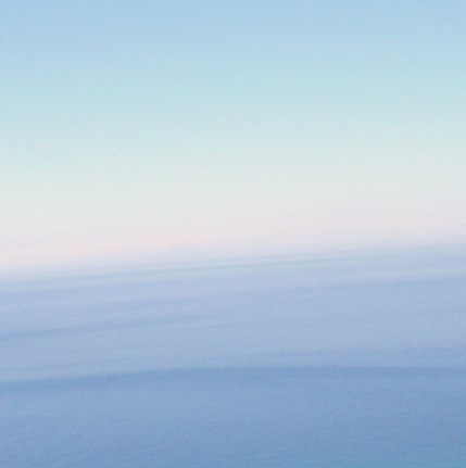 Blues converge where the Mediterranean sea meets the sky